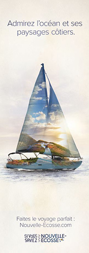 2017 French out-of-home advertisement- Sail boat and Skyline Trail image