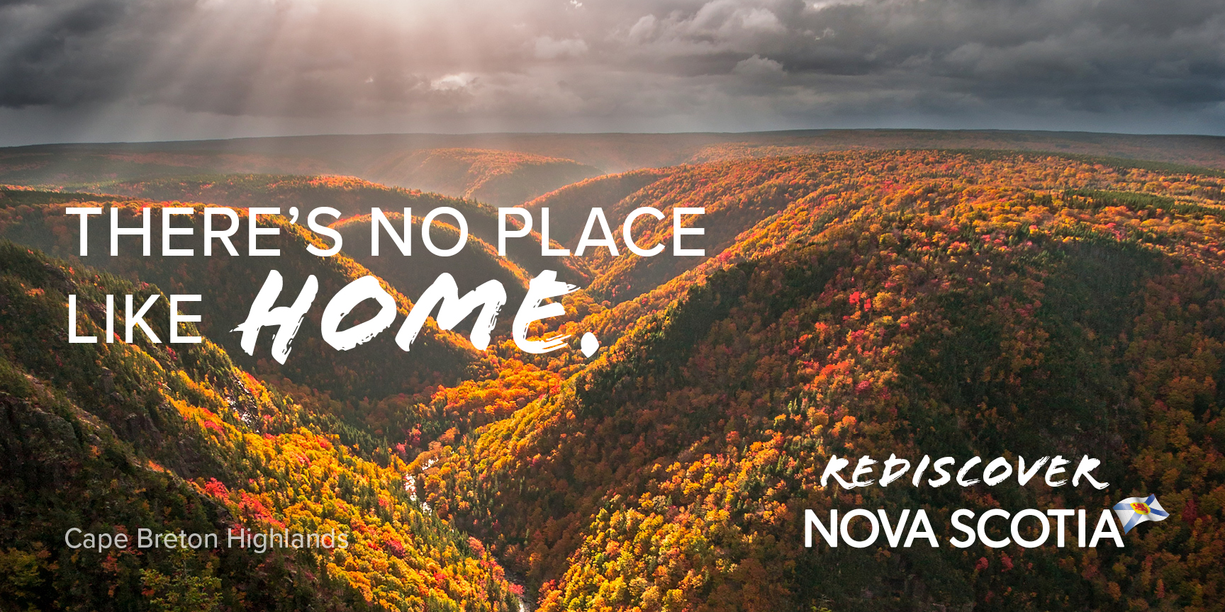 Cape Breton Highlands in the fall. Rediscover Nova Scotia.
