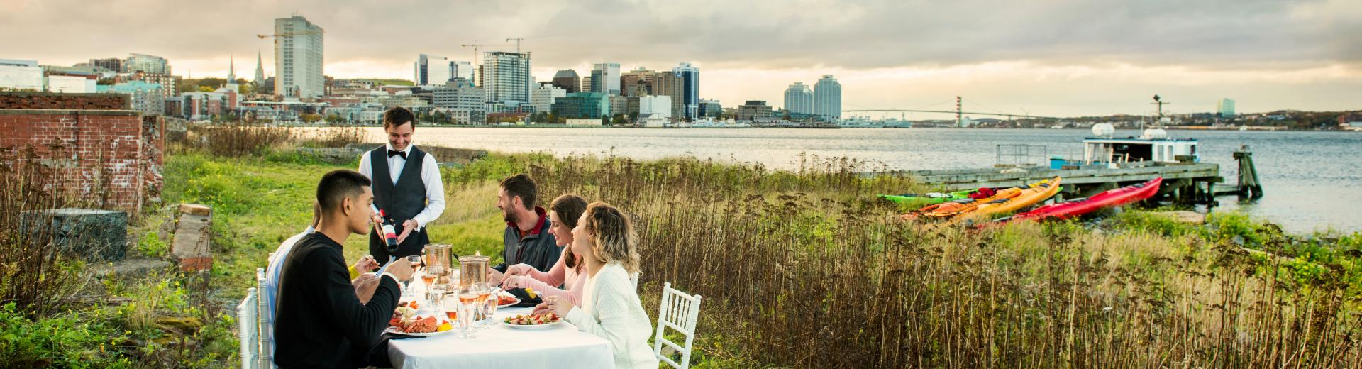 Gourmet dining and glamping on Georges Island