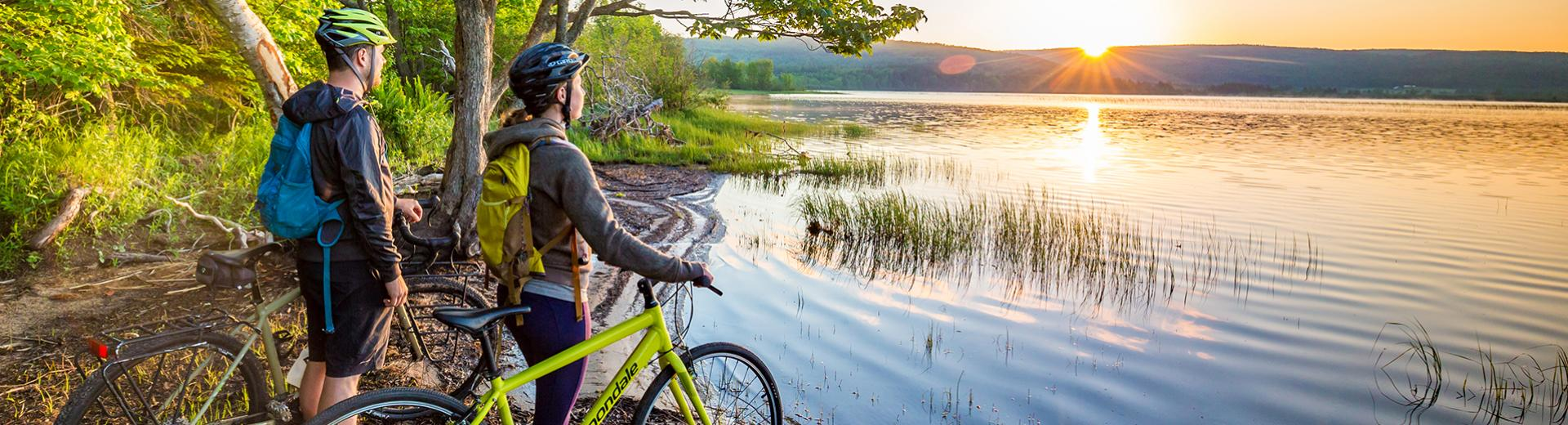 Cycling Celtic Coastal Trail, Cape Breton, Nova Scotia