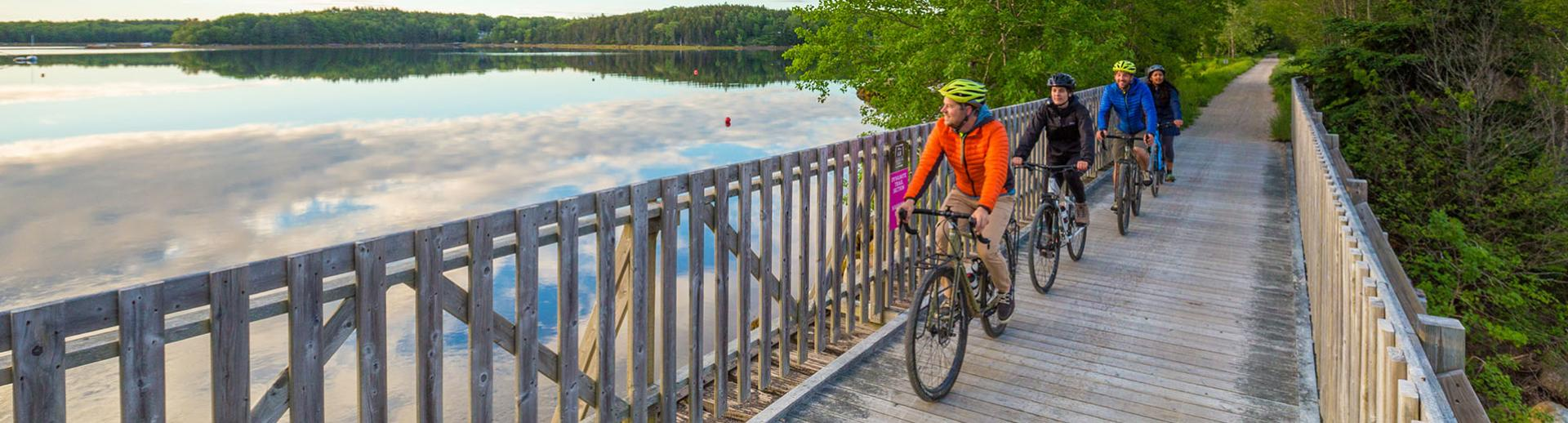 Cycling on the Rum Runners Trail, Nova Scotia