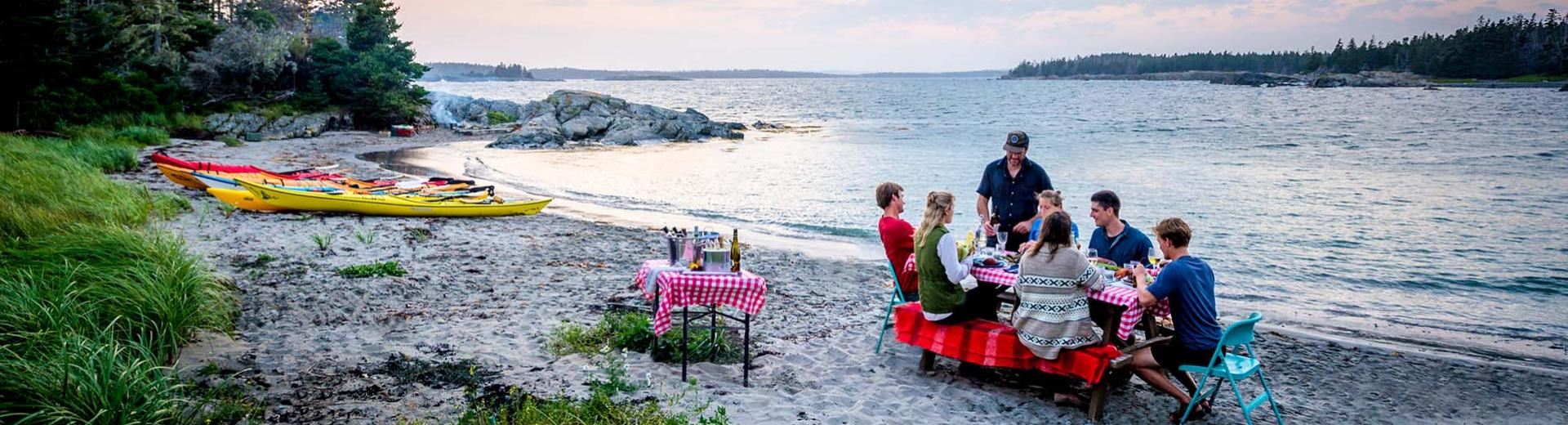 Dining on the Beach, Cape LaHave Adventures, Nova Scotia