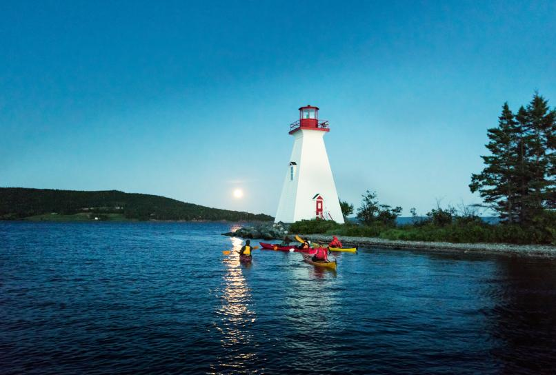 Kidston Lighthouse in Baddeck Bay