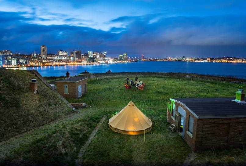 Gourmet dining and Glamping experience on Georges island in Halifax Harbour