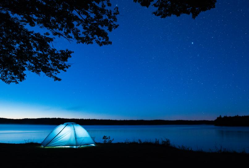 Camping under the stars in Ellenwood Provincial Park