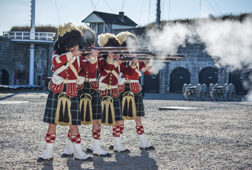 Highlanders at the Halifax Citadel National Historic Site