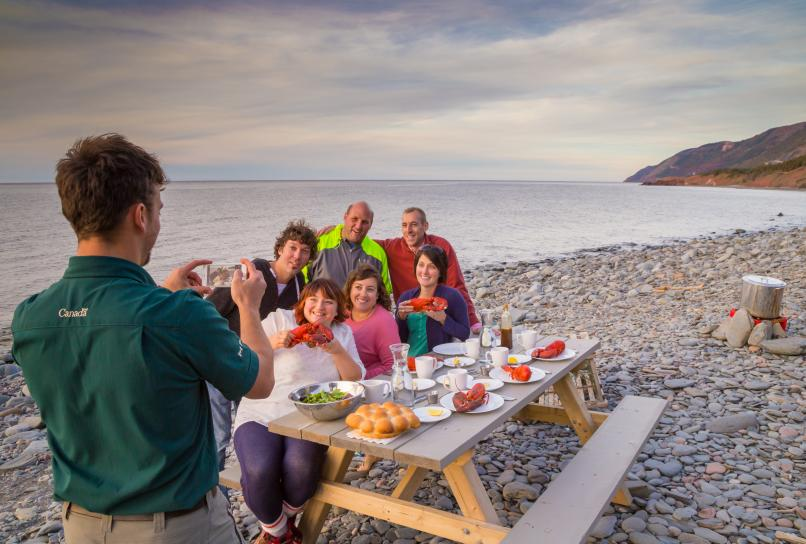 Lobster experience in the Cape Breton Highlands National Park