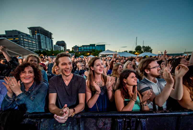 Crowds taking in a performance at TD Halifax Jazz Fest