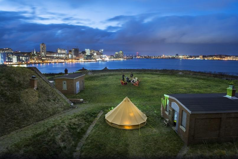 Glamping on George's Island