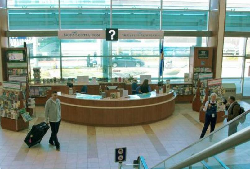 Visitor information booth at the Halifax International Airport