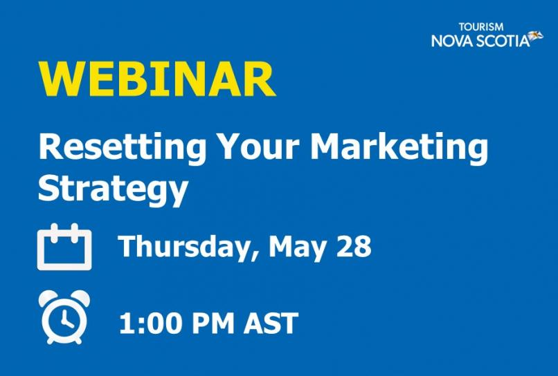 Webinar Resettting Your Marketing Strategy Thursday, May 28 at 1pm