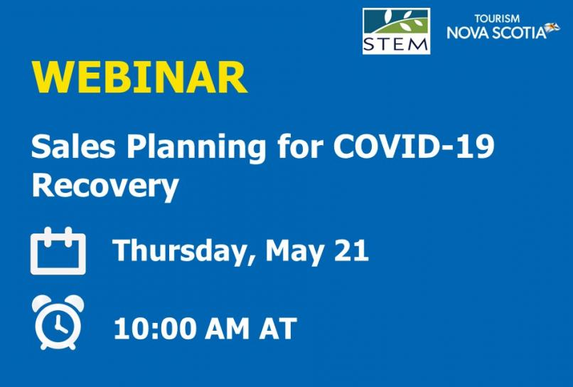 Webinar Sales Planning for COVID-19 Recovery Thursday, May 21 at 10 am